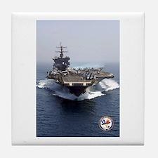 USS Enterprise CVN-65 Tile Coaster