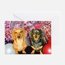 American Dogs Greeting Card