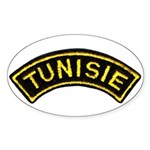 Tunisia Legion Oval Sticker (50 pk)