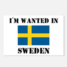 I'm Wanted In Sweden Postcards (Package of 8)