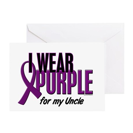 I Wear Purple For My Uncle 10 Greeting Card