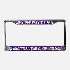 Furbaby Australian Shepherd License Plate Frame