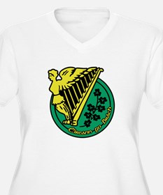 Ireland Forever Women's +Size V-Neck T-Shirt