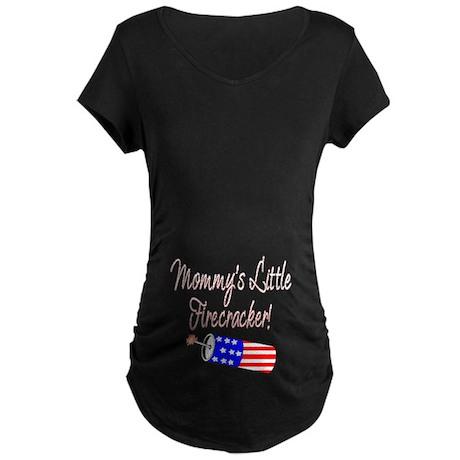 Mommy's Little Firecracker 2 Maternity Dark T-Shir