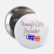 """Mommy's Little Firecracker 2 2.25"""" Button (10 pack"""