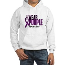 I Wear Purple For My Aunt 10 Hoodie