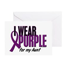 I Wear Purple For My Aunt 10 Greeting Card