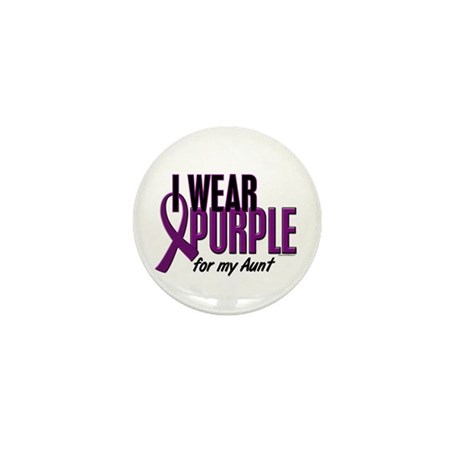 I Wear Purple For My Aunt 10 Mini Button (10 pack)