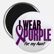"I Wear Purple For My Aunt 10 2.25"" Magnet (10 pack"