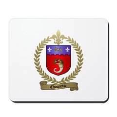 CHOQUETTE Family Crest Mousepad