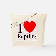 I Love Reptiles Tote Bag