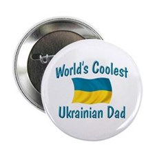 """Coolest Ukrainian Dad 2.25"""" Button"""