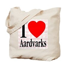 I Love Aardvarks Tote Bag