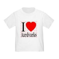 I Love Aardvarks T