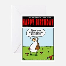 Pogoing Greeting Card