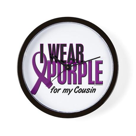 I Wear Purple For My Cousin 10 Wall Clock