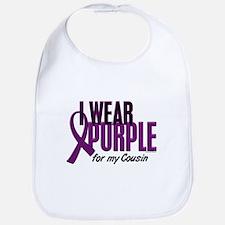 I Wear Purple For My Cousin 10 Bib