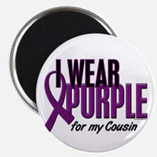 "I Wear Purple For My Cousin 10 2.25"" Magnet (10 pa"