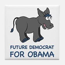 Future Democrat for Barack Obama Tile Coaster