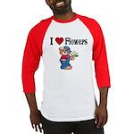 I love Flowers Baseball Jersey