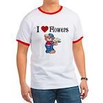 I love Flowers Ringer T