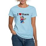 I love Flowers Women's Light T-Shirt