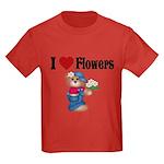 I love Flowers Kids Dark T-Shirt