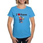 I love Flowers Women's Dark T-Shirt
