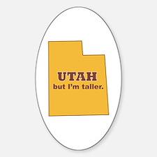 """Utah"" Oval Decal"