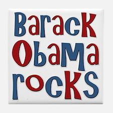 Barack Obama Rocks President Tile Coaster