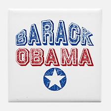 Barack Obama Patriotic USA Tile Coaster