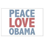 Peace Love Obama President Large Poster