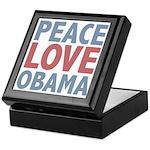 Peace Love Obama President Keepsake Box