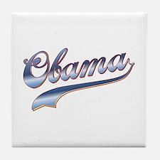 Obama Baseball Style Swoosh Tile Coaster