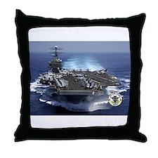 USS Carl Vinson CVN-70 Throw Pillow