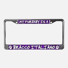 Furbaby Bracco Italiano License Plate Frame