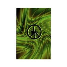 Green Peace Rectangle Magnet