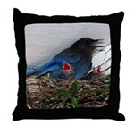 Baby Steller's Jays Throw Pillow