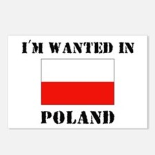 I'm Wanted In Poland Postcards (Package of 8)