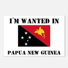 I'm Wanted In Papua New Guinea Postcards (Package