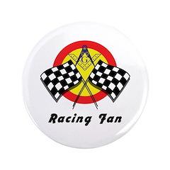"""Racing Mason Fan 3.5"""" Button (100 pack)"""