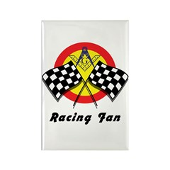 Racing Mason Fan Rectangle Magnet (100 pack)