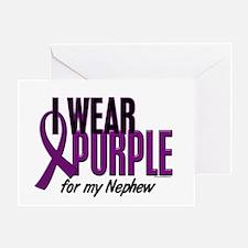 I Wear Purple For My Nephew 10 Greeting Card
