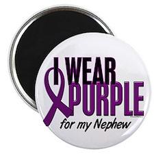 """I Wear Purple For My Nephew 10 2.25"""" Magnet (100 p"""