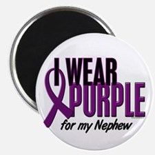 "I Wear Purple For My Nephew 10 2.25"" Magnet (10 pa"
