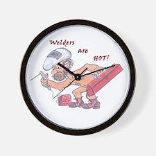 Welders are HOT!2 Wall Clock