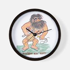 Caveman Welders are HOT! Wall Clock