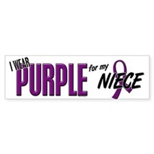 I Wear Purple For My Niece 10 Bumper Bumper Sticker