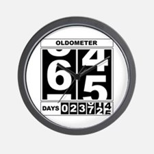 65th Birthday Oldometer Wall Clock