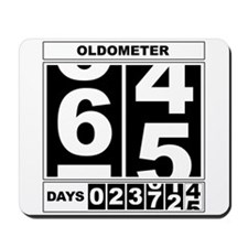 65th Birthday Oldometer Mousepad